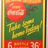 Canadian Cardboard Coca-Cola Signs