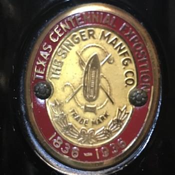 Part #3 Singer badges - Exhibition & Expositions & Centennial - Advertising