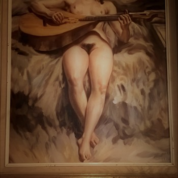 Guitar girl - Fine Art