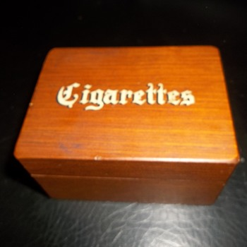 faux cigarette decorative box novelty Cornwall Wood Products - Tobacciana