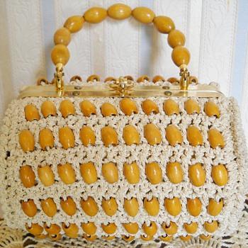 WALBORG ITALY CROCHET BEAD BAG - Bags