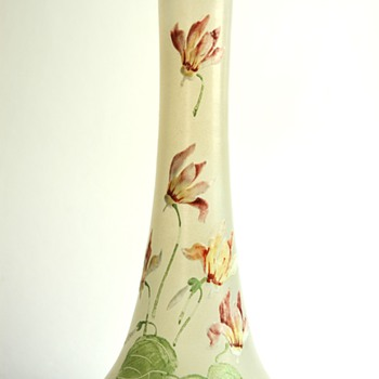 french legras montjoye enameled vase - Art Nouveau