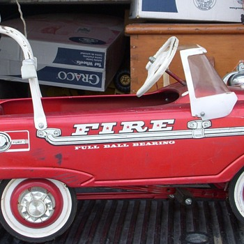 Fire Truck Pedal Car, Full Ball Bearing, circa 1968 - Model Cars