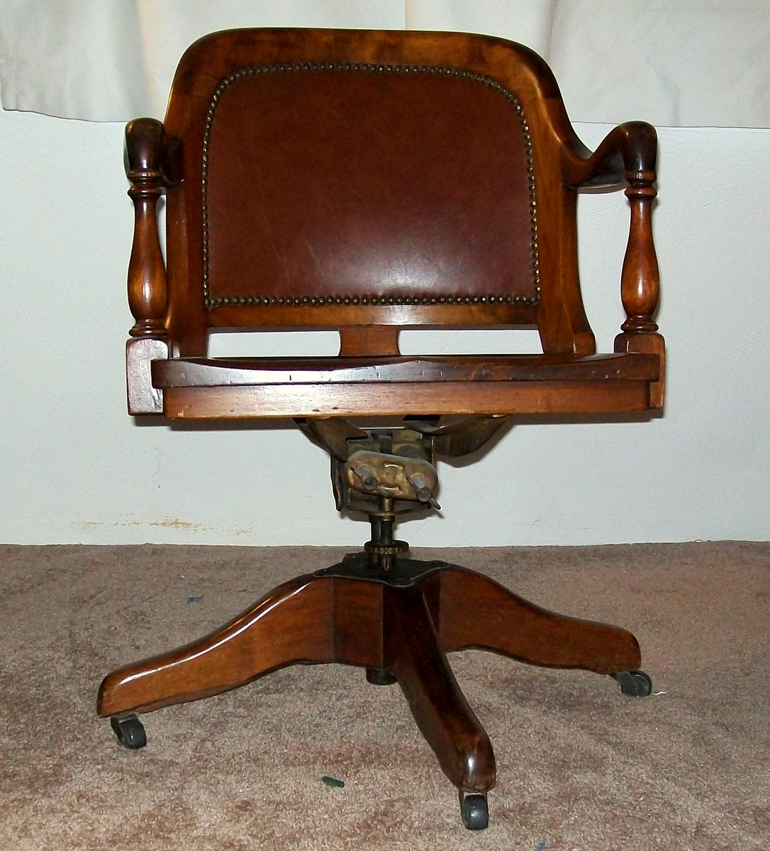 antique bankers chair marble & shattuck | collectors weekly