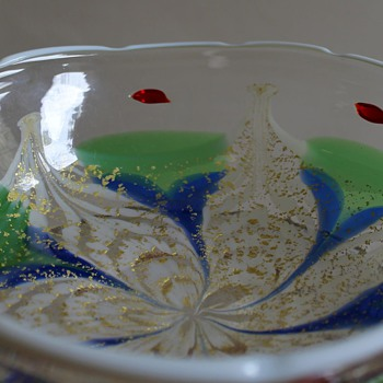 Aya Kon Bowl Yukio Ueno Japan - Art Glass