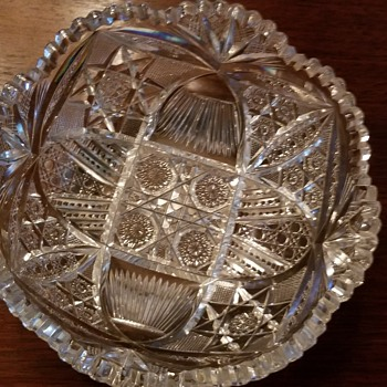 Brilliant period cut lead glass bowl  - Glassware
