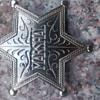 sherrif badge not silver