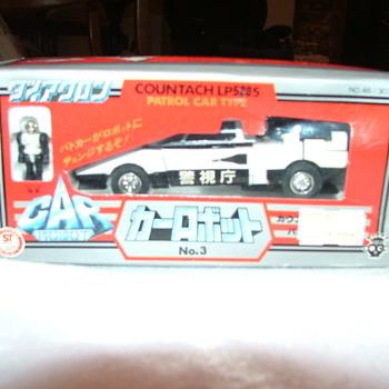 Diaclone 1980 car robot LP500S  No.3 countach patrol car type - Toys