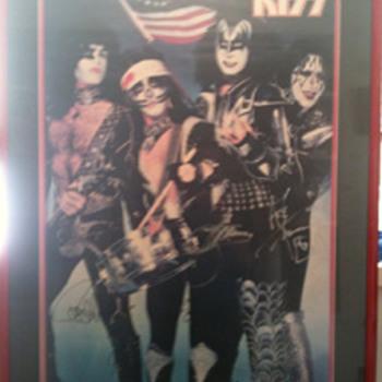 1976 Mint autograpghed framed poster - Music Memorabilia