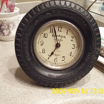 Seth Thomas Goodrich Tire Desk Clock  - Clocks