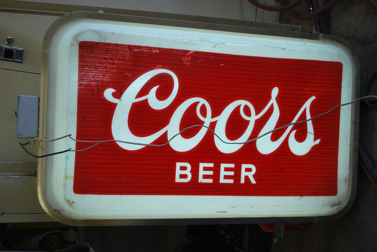 Lighted Signs Outdoor Commercial outdoor lighted coors sign collectors weekly workwithnaturefo