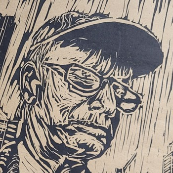 Linocut - The Architect by Dean R. Seidel - Posters and Prints