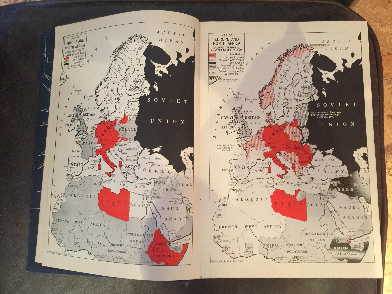 1942 World Globe and Atlas