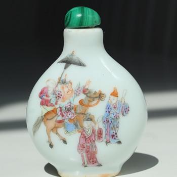Zhong Kui Porcelain Snuff Bottle - Asian