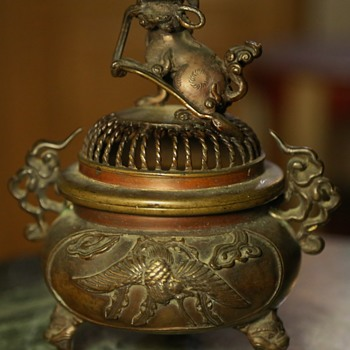 Mixed Metal and Bronze Censer - Japanese? - Asian