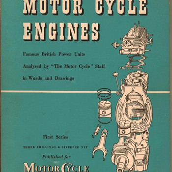 "1954 - ""Motor Cycle Engines"" - Book - Books"