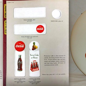 1950's White Disc Decals - Coca-Cola