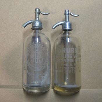 Gruber Bottling Works Seltzer bottles - Bottles