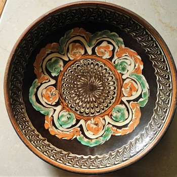 Combed slip Redware  dishes. - Pottery