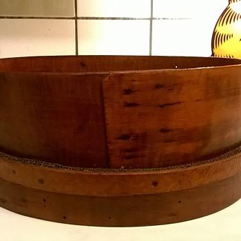 Vintage Round Bent Wood Shaker/Sieve Thrift Shop Find $1.00/1 Euro - Folk Art