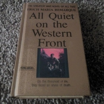 Remarques' 'All Quiet On The Western Front' - Books