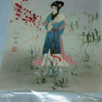 Asian Painting on  stretch canvas - Asian