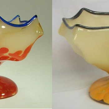 Welz Umbrella shapes - 6 sided shapes - Art Glass
