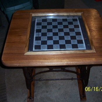 vintage B.  F. Goodrich rubber checkerboard--my latest project - Furniture