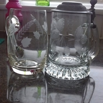 Glass beer stein & mug