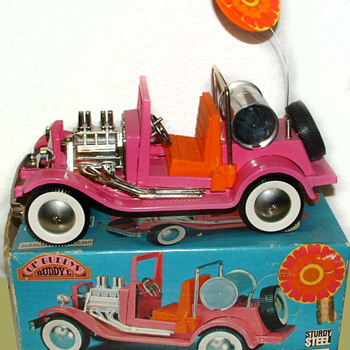 "1960s Psychedelic colored BUDDY-L Pressed Steel #4250 ""Ol' Buddy SAND DRAG'N"" in MIB condition! - Model Cars"
