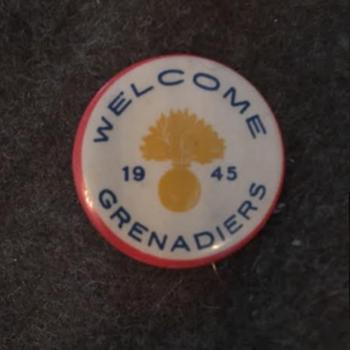 WWII Winnipeg Grenadiers Welcome Home Pin