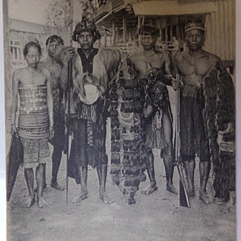 Dyaks of Borneo - Postcards