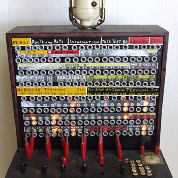 amazing Folk Art Telephone Switchboard Lamp find this weekend - Telephones