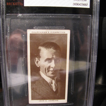 1938 Churchman's Cigarettes card # 50-- John E. Harding
