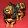 Vintage Pair Of Cold Painted Dachshunds