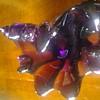 Odd shaped Purple art glass ashtray maybe murano?