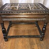 6 tile top wood carved side table