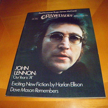 Crawdaddy Magazine-Lennon cover story-March 1974 - Music Memorabilia