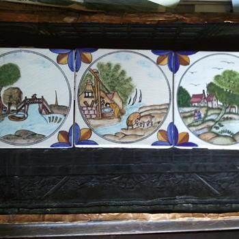 DUTCH/DELFT POLYCHROME TILES (ca 17th century) - Pottery