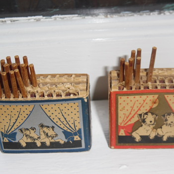 Matchbox  made of Caton crates with the striker inside