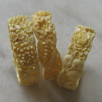 Celluloid bangles circa 1950's-60's Japan - Costume Jewelry