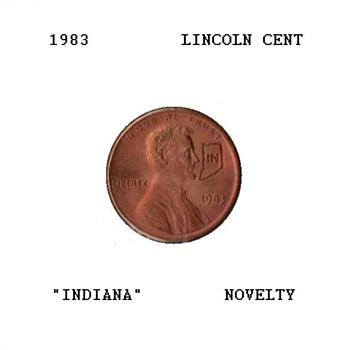 "1983 - Souvenir Penny ""Indiana"" - US Coins"