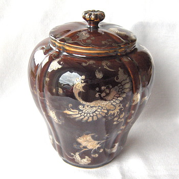 Japanese Antique Ceramic Items - Decorated with Silver Overlay - Asian