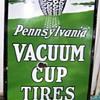 Pennsylvania Vacuum Cup Tire sign pre 1920