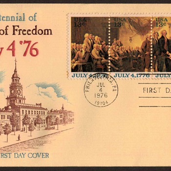 "1976 - ""U.S. Bicentennial"" - First Day Cover - Stamps"