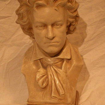 Vintage Beethoven Bust ~ Alexander Backer Co. INC.   © - Figurines