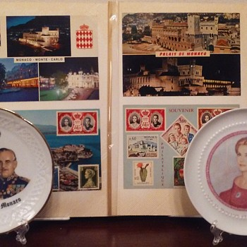 Vintage Monaco plates & postcards - Advertising