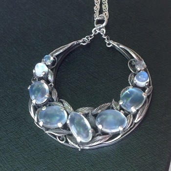 Shipton & Co Moonstone Silver Pendant - Arts and Crafts