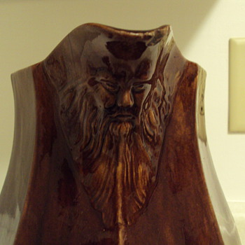 Bennington(???)Old Man on the Mountain Pitcher - Pottery