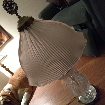 Crystal and brass table lamp - Lamps